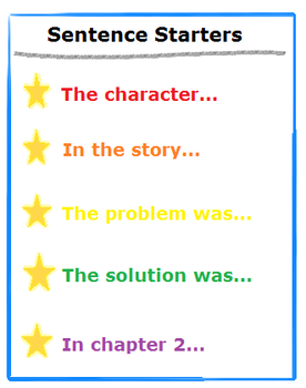 Referring to specific sections of a text lesson for kids study sentence starters for stories fandeluxe Image collections