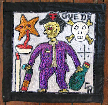 Example of a sequined voodoo flag