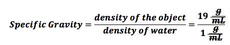 Specific Gravity: No Unit