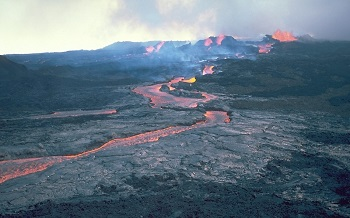 shield volcano lava