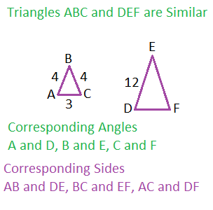 Finding perimeter area of similar polygons study similartriangles ccuart Images