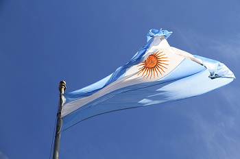 Argentinean flag in the sky