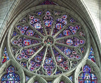 Rose Window In A Wheel Pattern