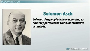 solomon asch experiment a study of solomon asch solomon asch was a social psychologist way back in the 1950s, which is even before my parents were born asch conducted a famous experiment on the effects of peer pressure on a person.