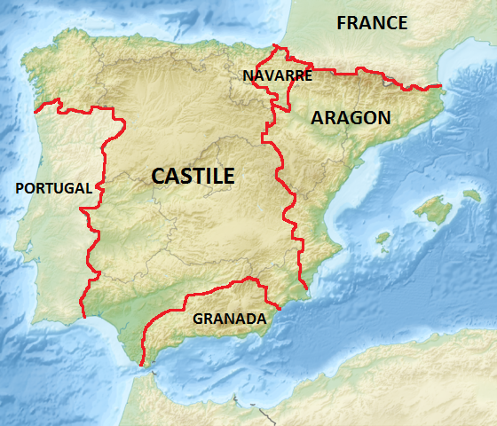 Brief History Of Spain Studycom - Portugal map history