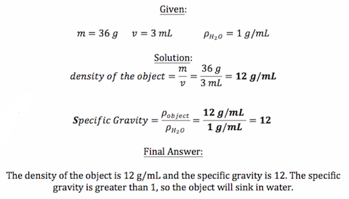 What is Specific Gravity Definition Formula Calculation – Mole Ratios and Mole to Mole Conversions Worksheet Answers