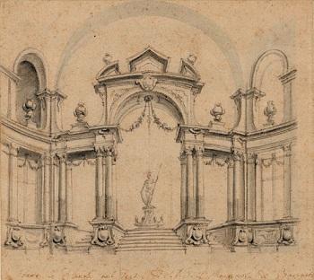 Set Design Sketch From 1750