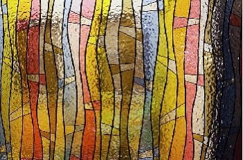 Stained glass with lead lines