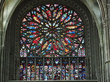 Rose Window From Amiens Cathedral