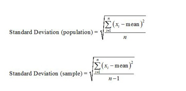 What is standard deviation definition equation sample standard deviation formulas ccuart Image collections
