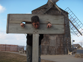 man in the stocks