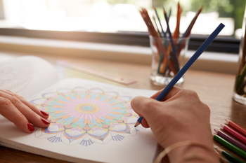 Coloring is a good option for teachers who want to reduce stress