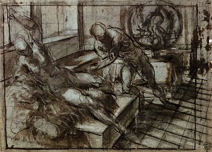 Tintoretto, Study for Venus, Mars, and Vulcan