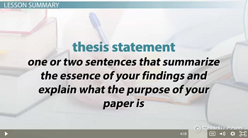 Function of Thesis Statements