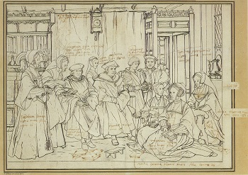 Hans Holbein, Study for Portrait of the Famiily of Sir Thomas More