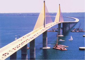 Sunshine skyway bridge construction history facts for Sunshine construction