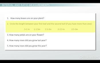 Nominal, Ordinal, Interval & Ratio Measurements: Definition