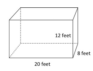 How to find the volume of a box - How to calculate swimming pool volume ...