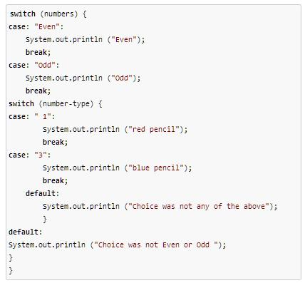 Quiz worksheet nested switch statements in java - Switch case java ...