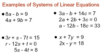 system of linear equations 3