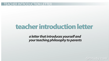 How to write a teacher introduction letter to parents video important components of a teacher introduction letter thecheapjerseys Image collections
