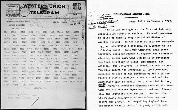 the zimmermann note The zimmermann telegram was 162 simple words that pulled the united states  into world war i against the german empire find out about the message.