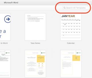 word web templates