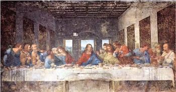 Last Supper Jesus No Halo