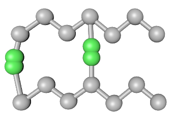 Crosslinks in thermoset polymer