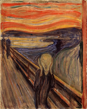 Art as a form of communication study the scream sciox Images
