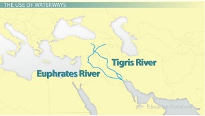 Tigris Euphrates River Map