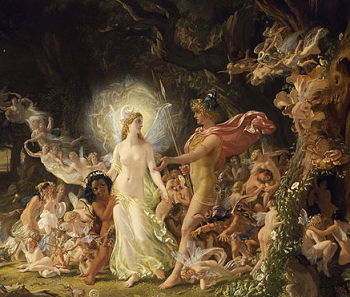 Titania And Oberon Arguing In The Forest