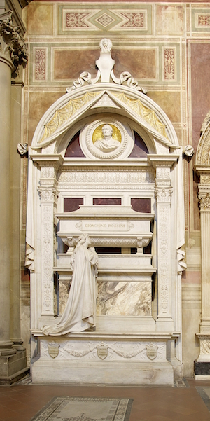 Photo of the Rossini tomb in Florence Italy
