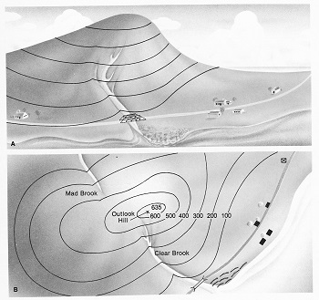 Topographic Map Of A Mountain.Topographic Maps Lesson For Kids Study Com