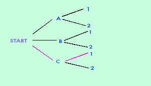 Quiz worksheet tree diagrams in math study the following tree diagram represents the possible outcomes of a certain event what outcome is represented by the path marked with pink branches ccuart Choice Image