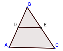Triangle with Midsegment