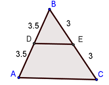 Triangle showing midsegment