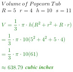 Volume & Surface Area of a Truncated Cone - Video & Lesson