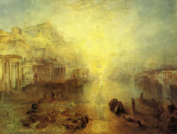 J.M.W. Turner, Ovid Banished from Rome, 1838.