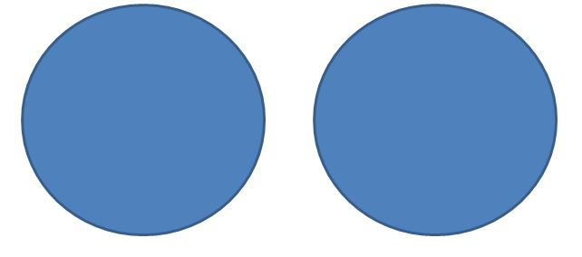 Two blank circles