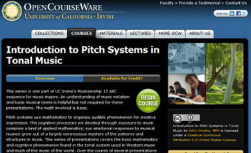 UC Irvine OCW: Introduction to Pitch Systems in Tonal Music