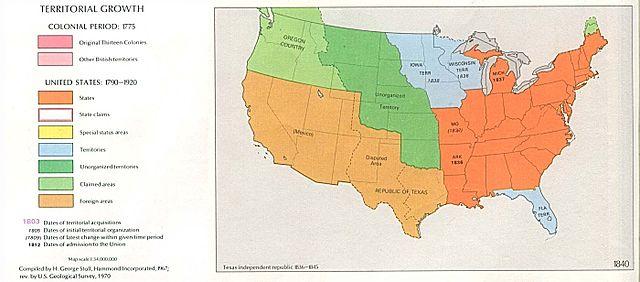 James K Polk Manifest Destiny Studycom - Polk us map