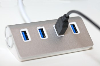A USB power hub with a surge protector can keep your devices powered and the ideas flowing in your homeschool room.