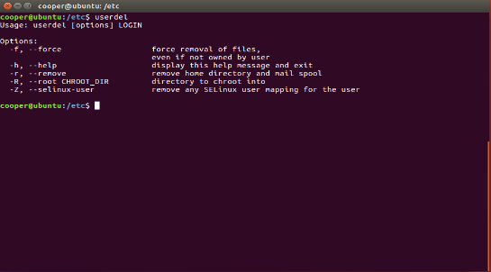 Modifying & Deleting Users in Linux   Study com