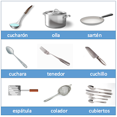 Restaurant Kitchen Vocabulary spanish vocabulary for cooking and the kitchen | study