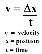 how to find the velocity of an object formula