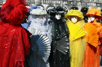 If these Venetian carnival revelers were your friends, would you be able to recognize them?