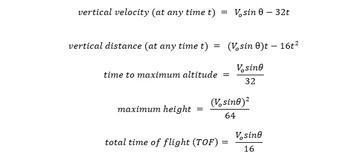 Free Motion Equation