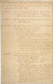 The first page of the Virginia Plan