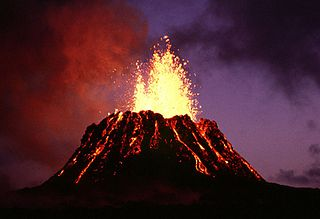 Volcanoes are one example of a topic that puts the earth into earth science